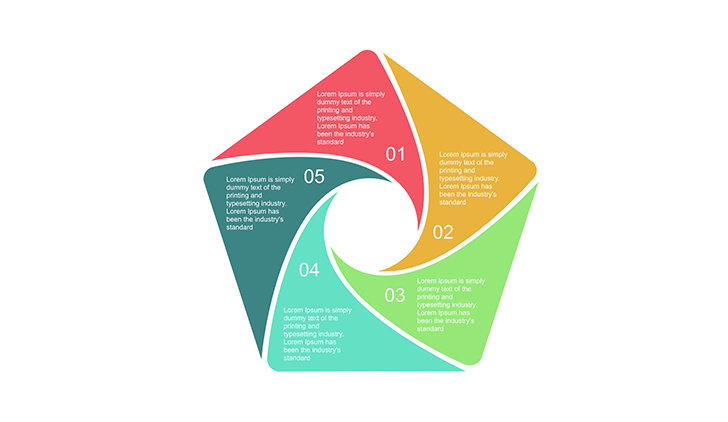 5 step pentagon diagram for Powerpoint