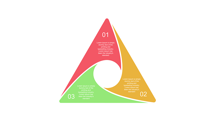 3 Step Triangle Diagram For Powerpoint