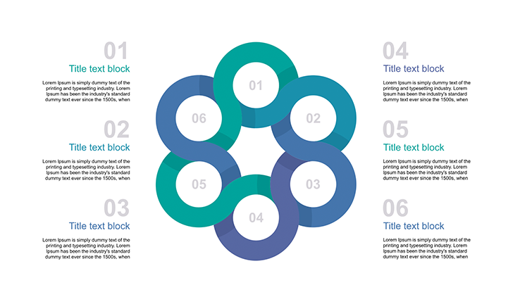 6 circle template for PowerPoint