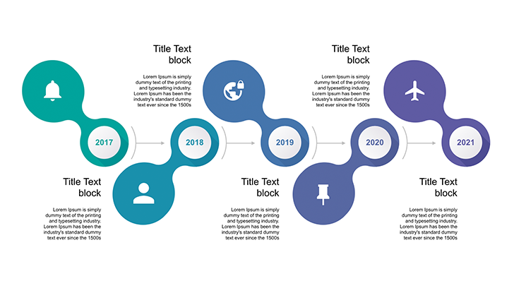 Timeline ppt template free