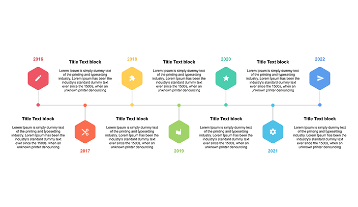 Timeline graphic PowerPoint