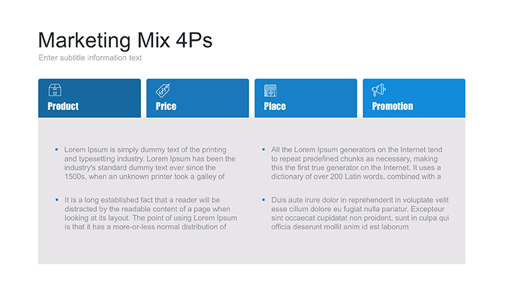 4Ps of Marketing Mix PPT