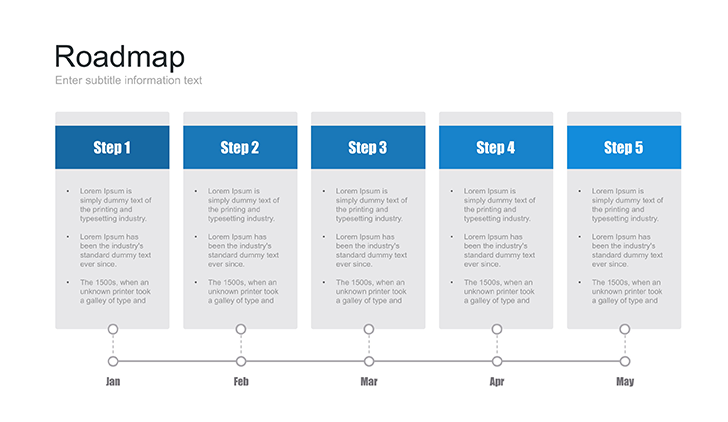 Powerpoint Roadmap Template Free Download Now