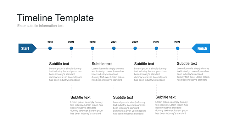 Timeline template PowerPoint