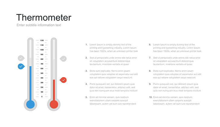Thermometer template