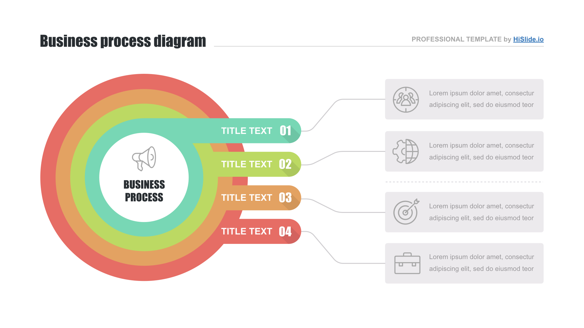 Org chart PPT template