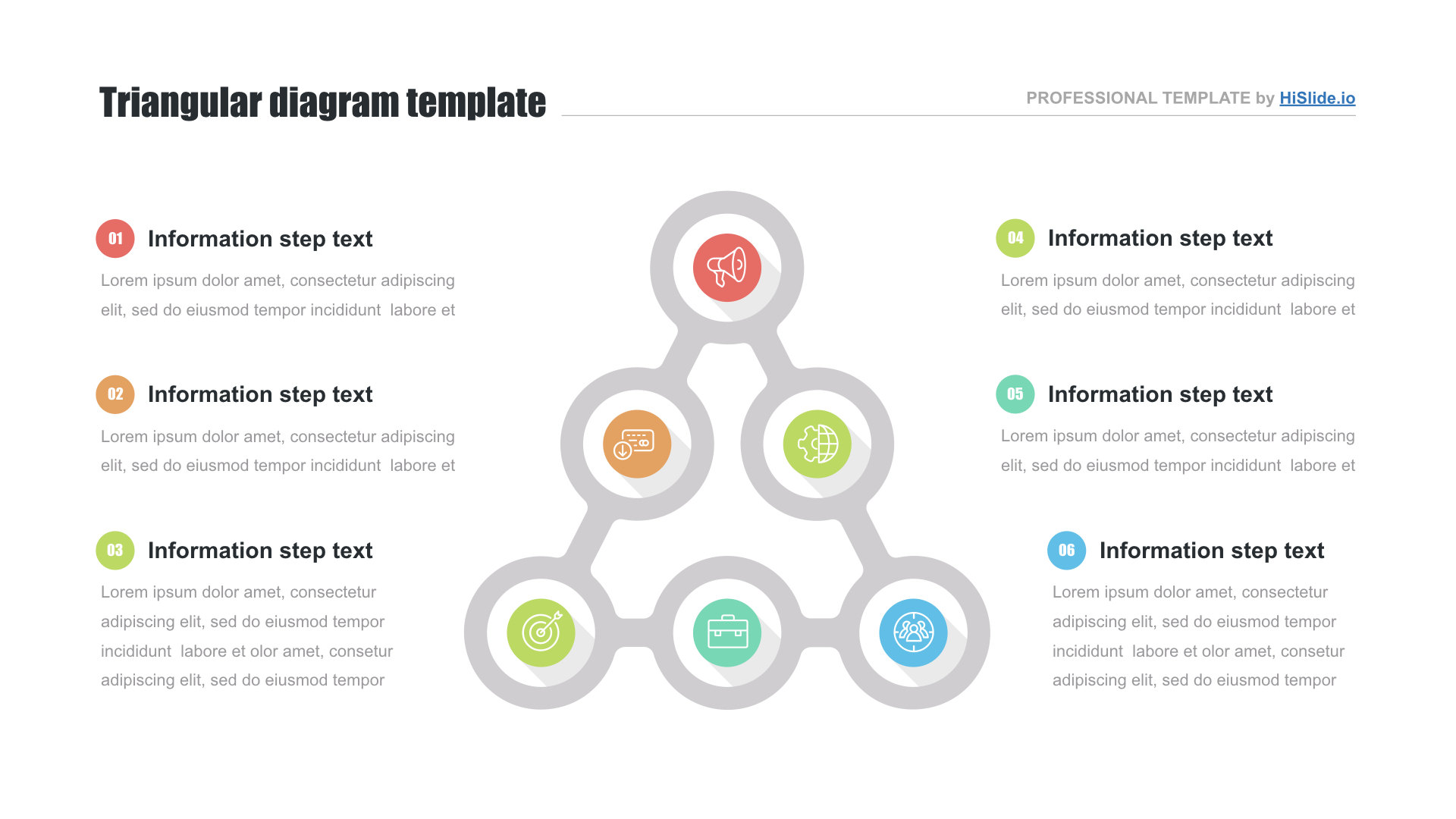 Special triangles PPT template