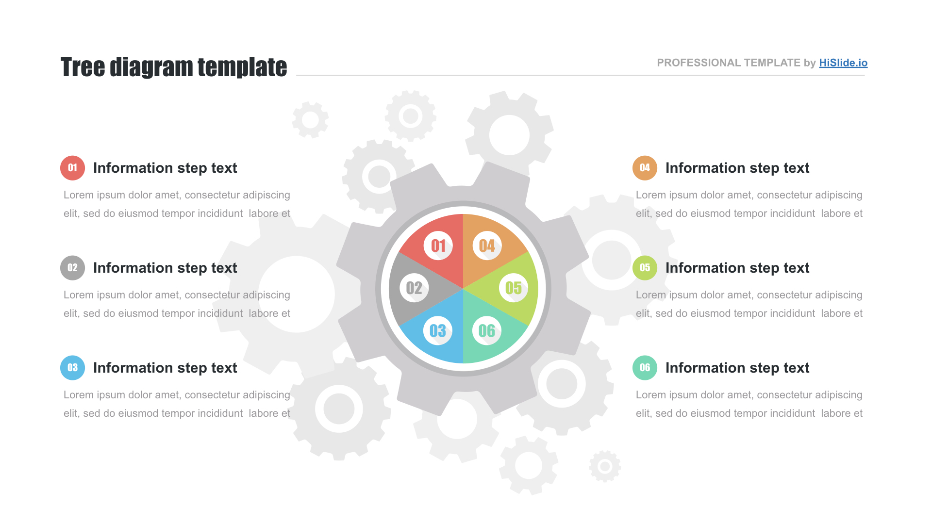 Gear wheels free PowerPoint template