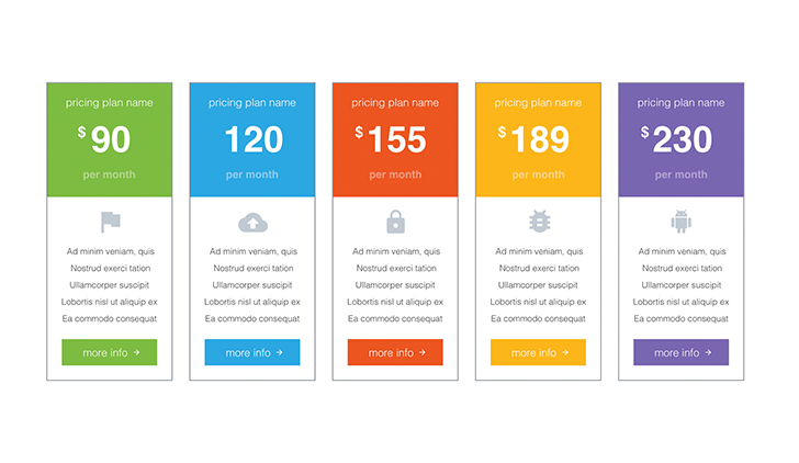 Pricing Tables PPT