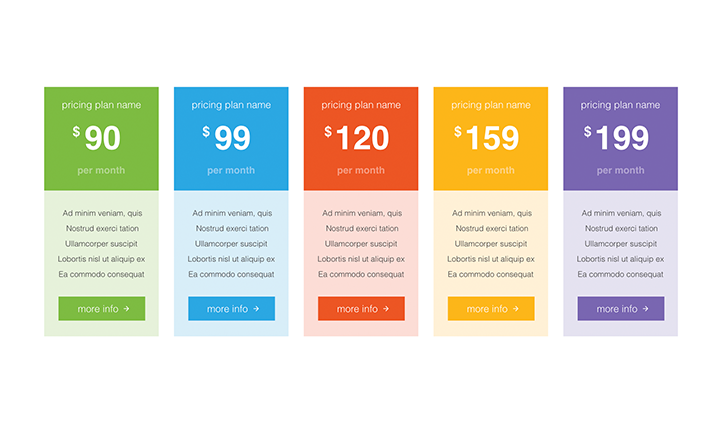 Pricing Tables PPT type 5