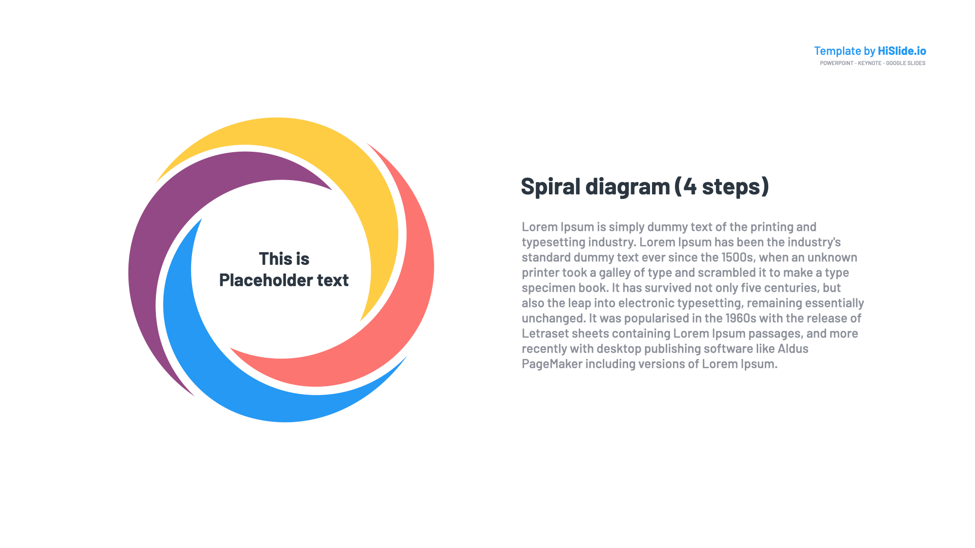Spiral in Powerpoint Free Template