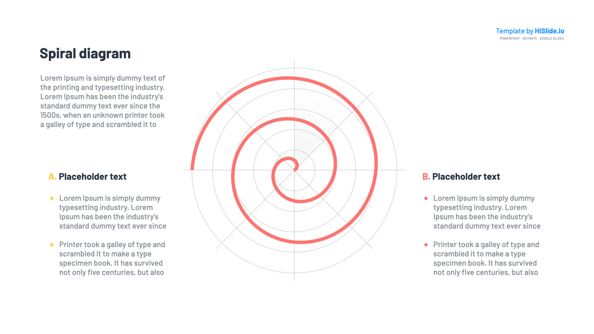 Spirals Powerpoint template for presentation
