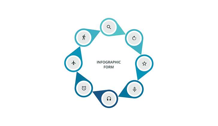 Circular infographic 8 step PPT