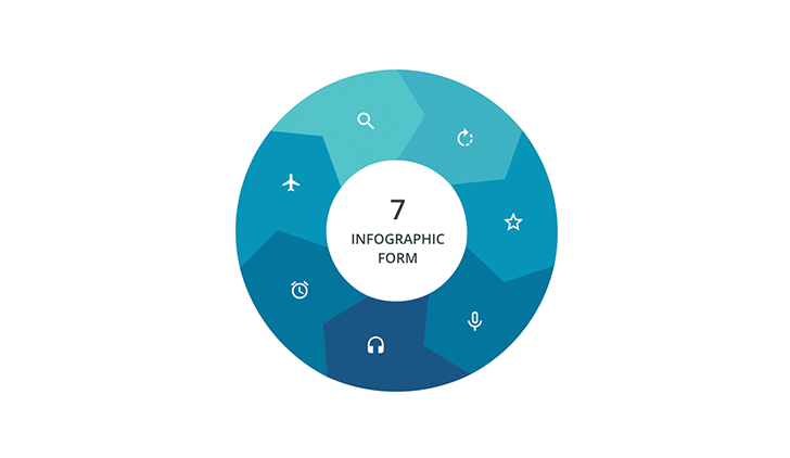 7 Segments infographic ppt