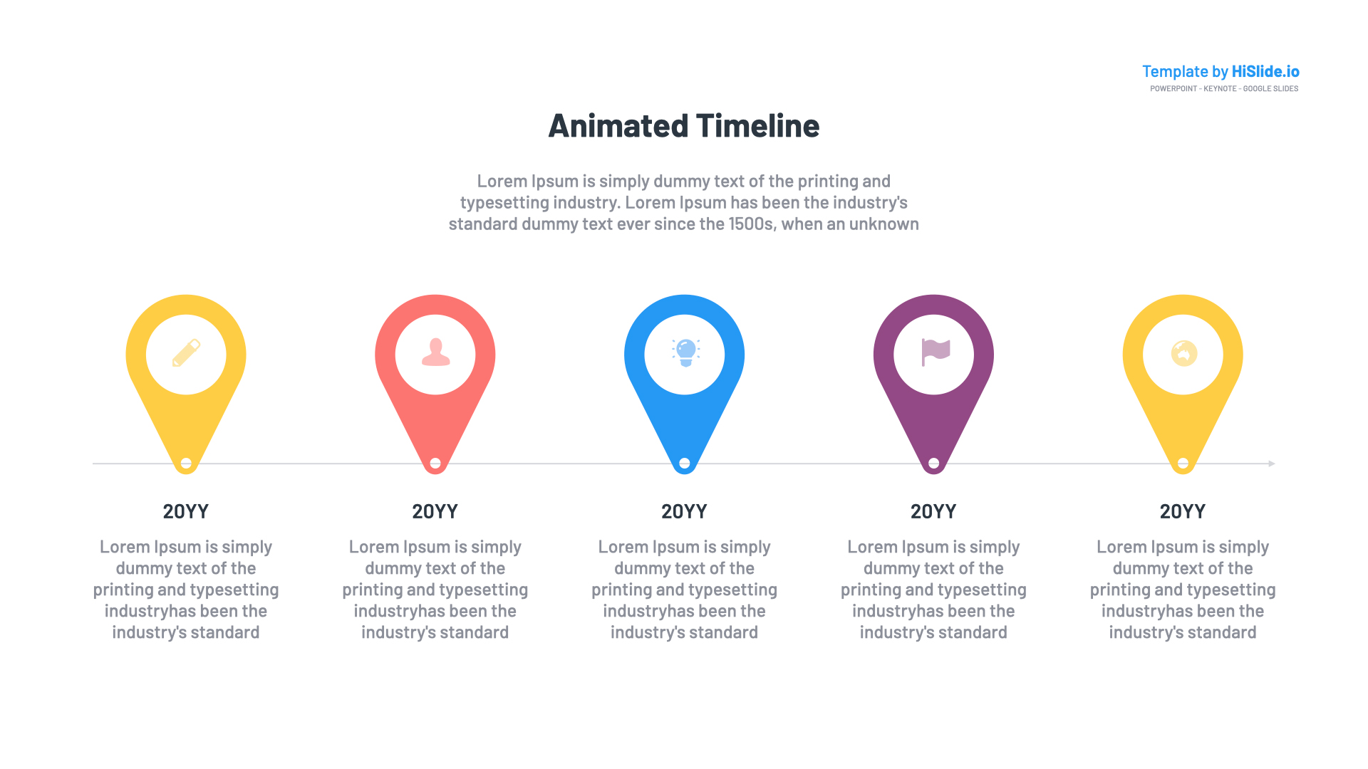 Free Animated timeline in Powerpoint