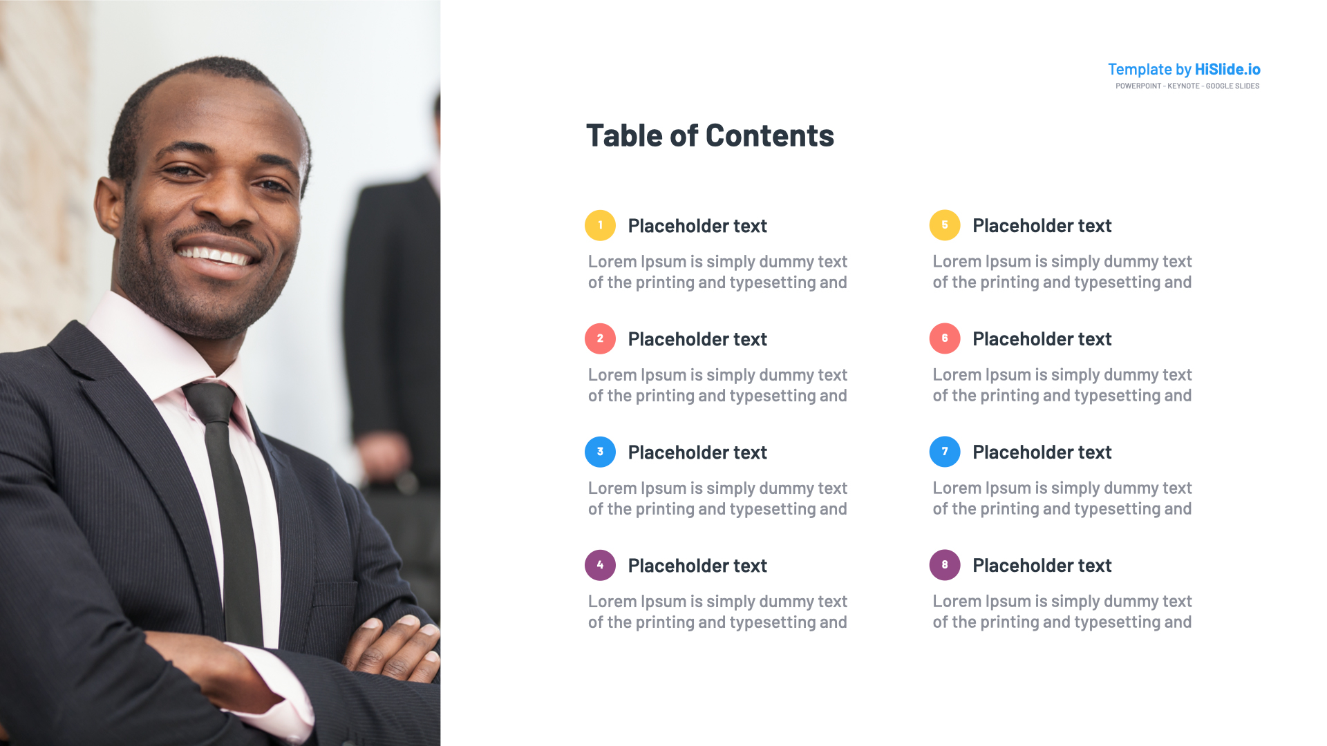 Table of contents with Powerpoint