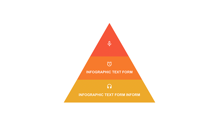 Pyramid with segments PPT