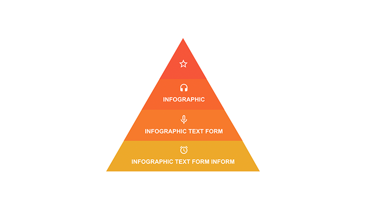 Pyramid with 4 segments PPT