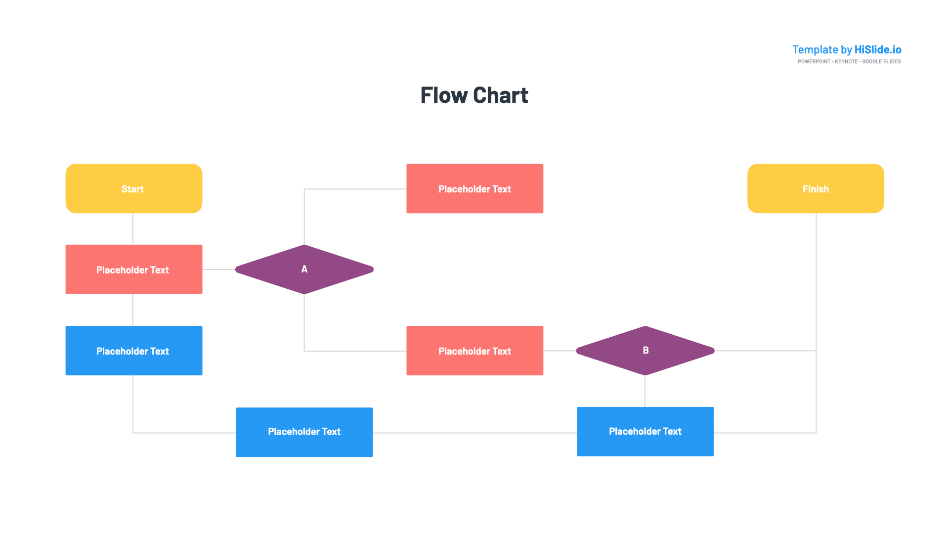 Flow chart for Powerpoint template
