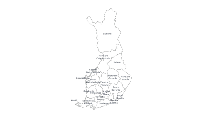 Finland ppt map