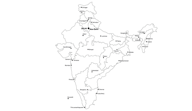 republic of india ppt map for powerpoint