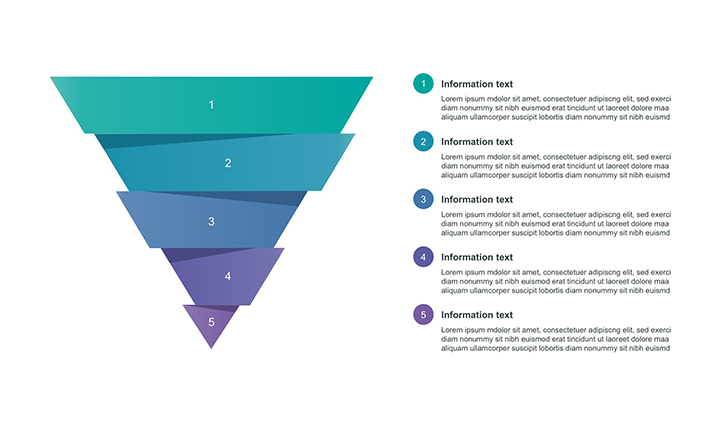 PowerPoint Funnel Template 5 step