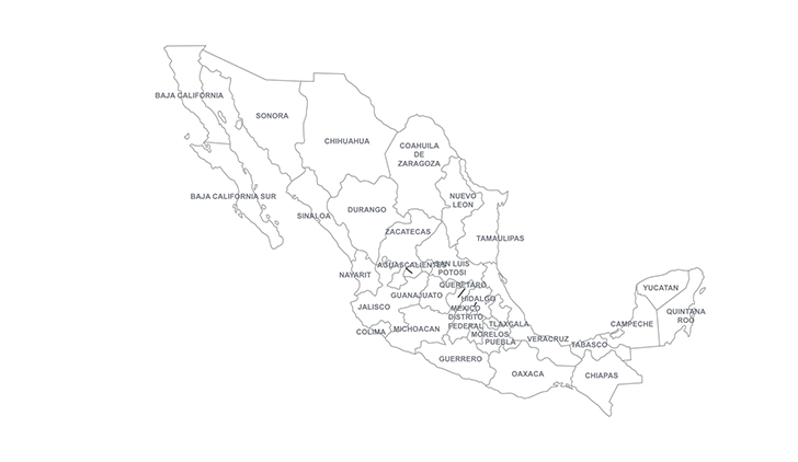 mexico powerpoint map  ppt