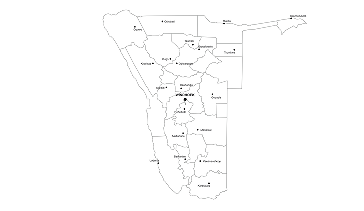 map of Namibia PPT - city