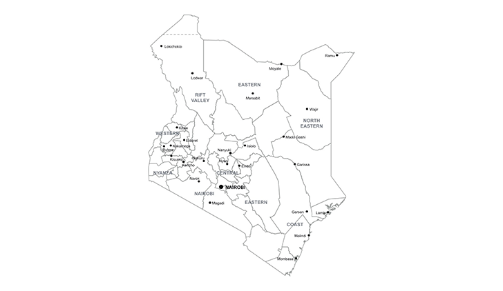 kenya ppt map for powerpoint