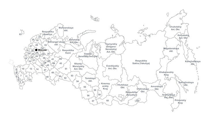 Russian Federation PPT map