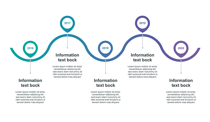 Timeline graphic for PowerPoint
