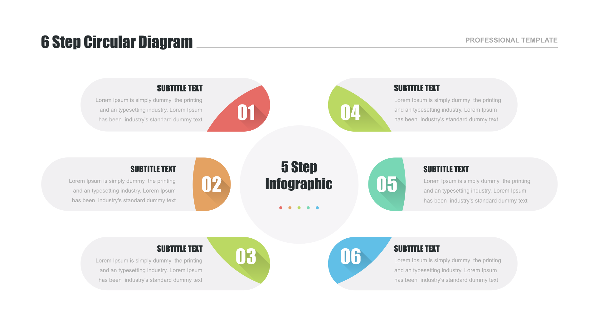 Circular Flow Diagram Template For Powerpoint And Keynote Manual Guide