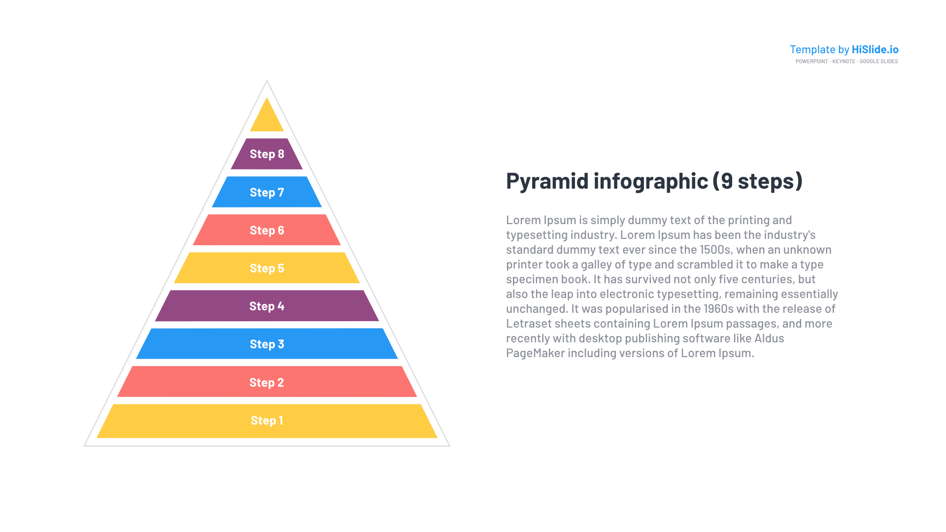 Pyramid Shape objects for Google Slides