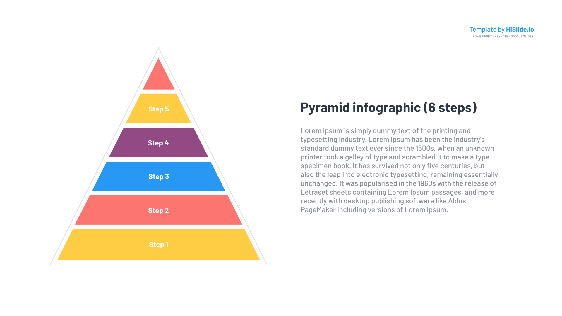 Free Pyramid shapes Google slides