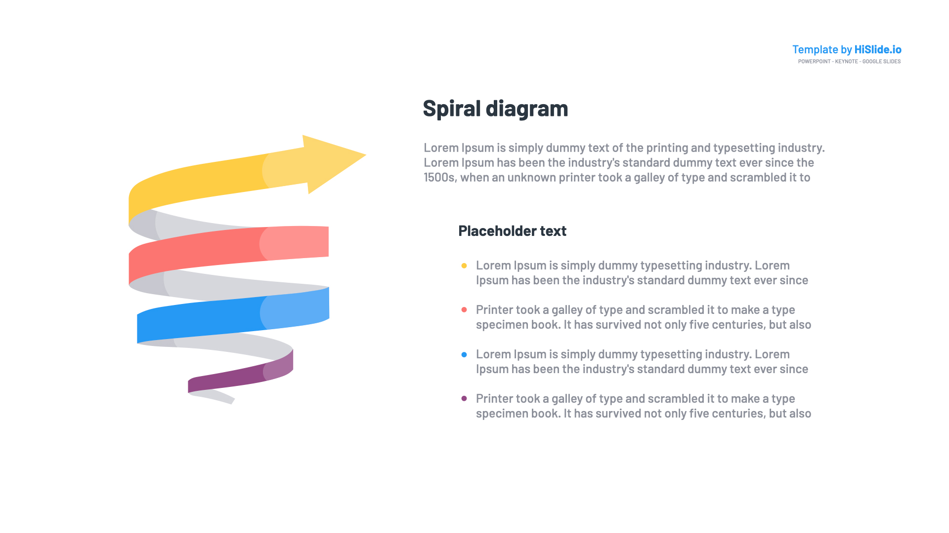 3D Shape Spiral Template for Google Slides