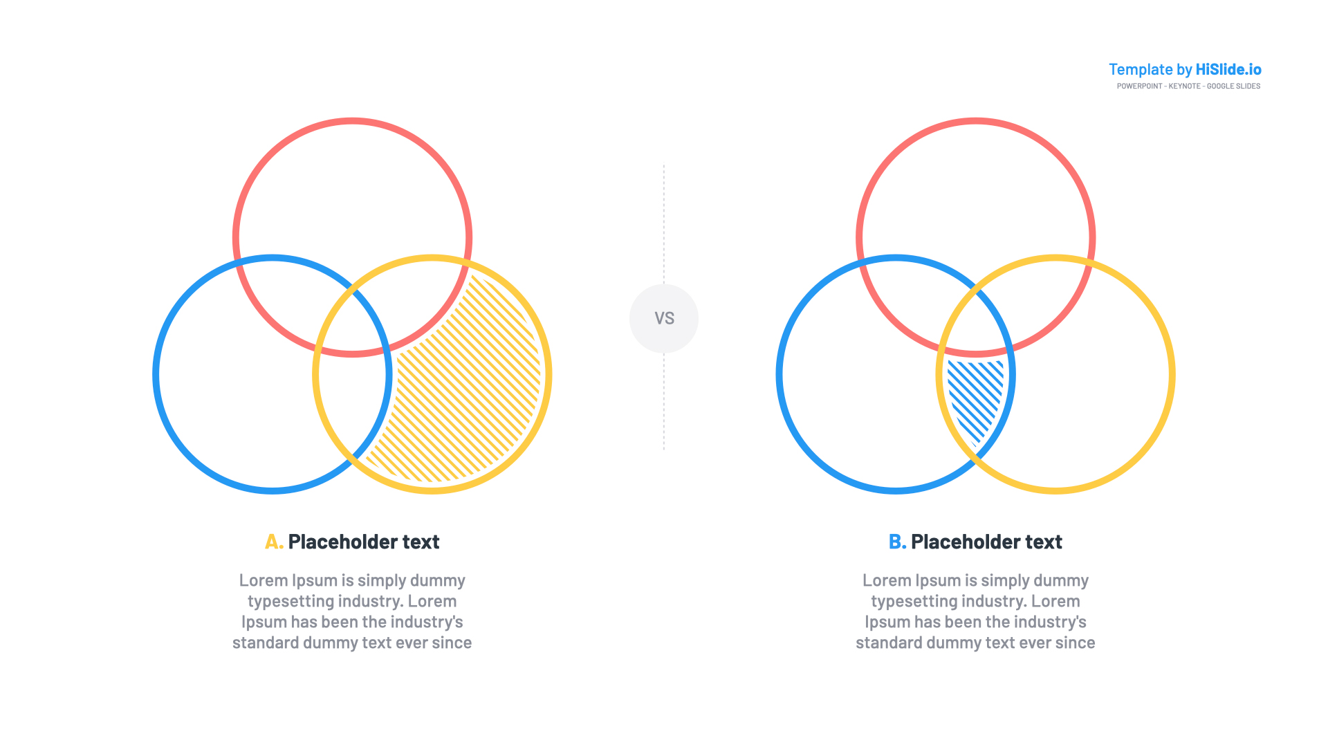 Venn Diagram Google slides Templates