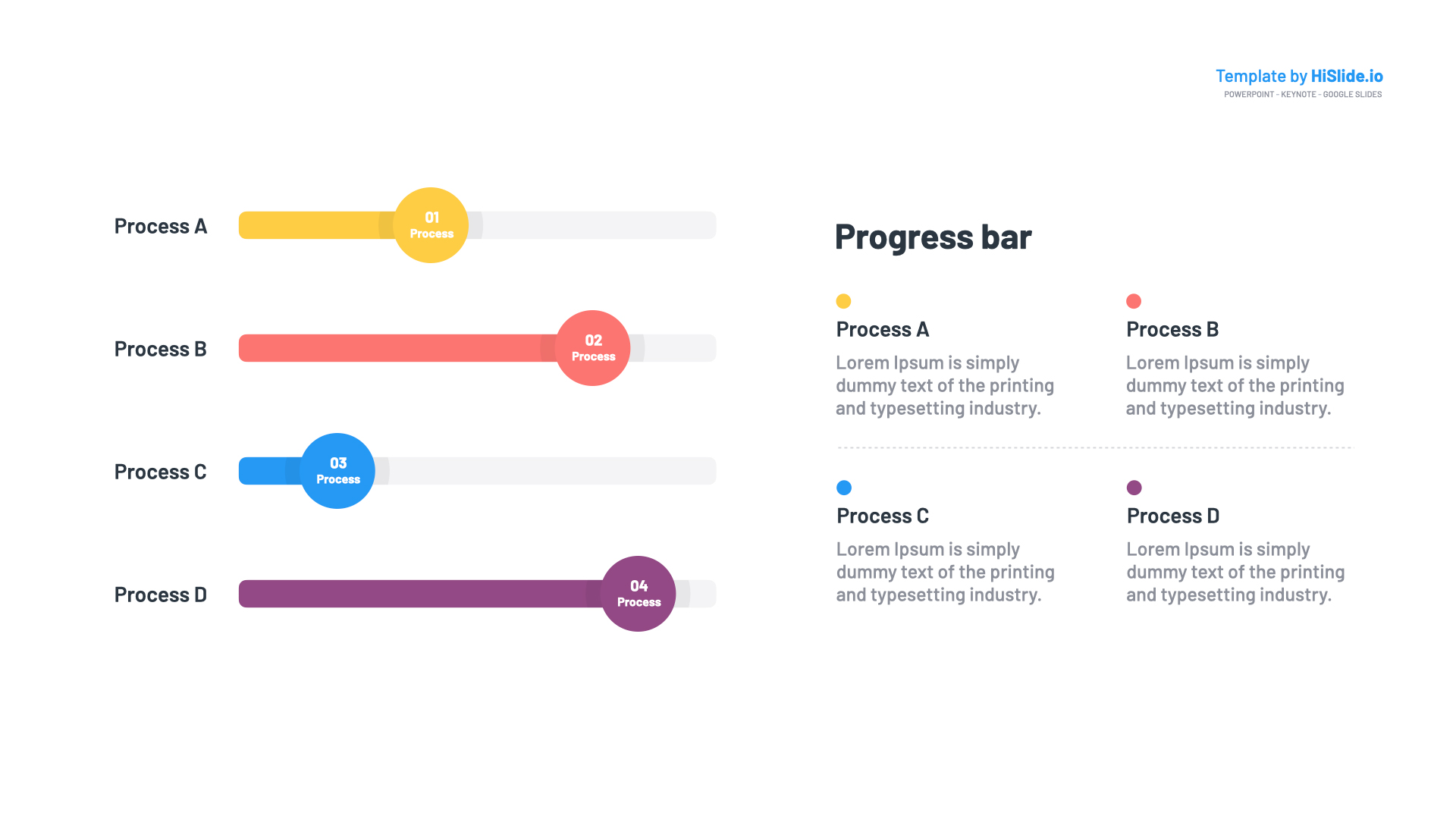 Progress bar Google slides template