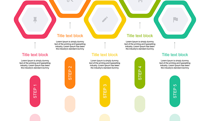 5 Step Creative color Diagram key