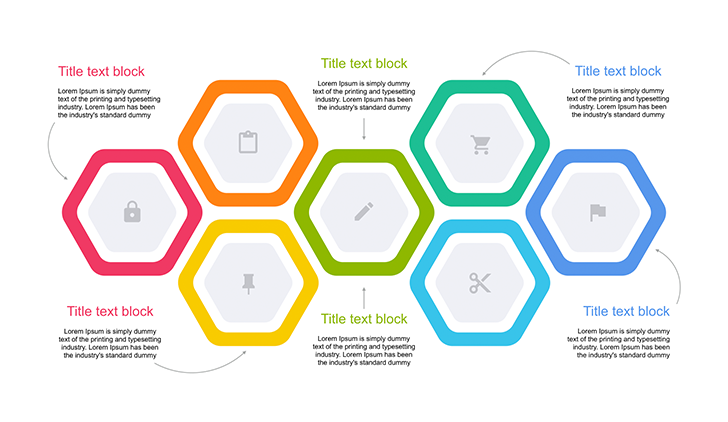Hexagonal Diagram Design for Keynote