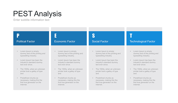 PEST analysis template for Keynote