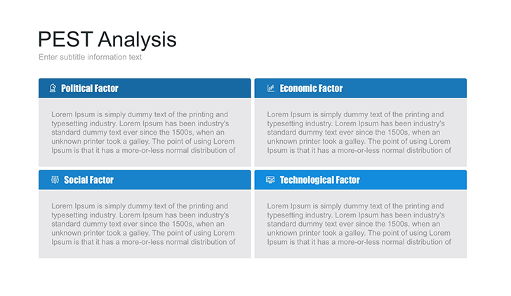 PEST analysis table for Keynote