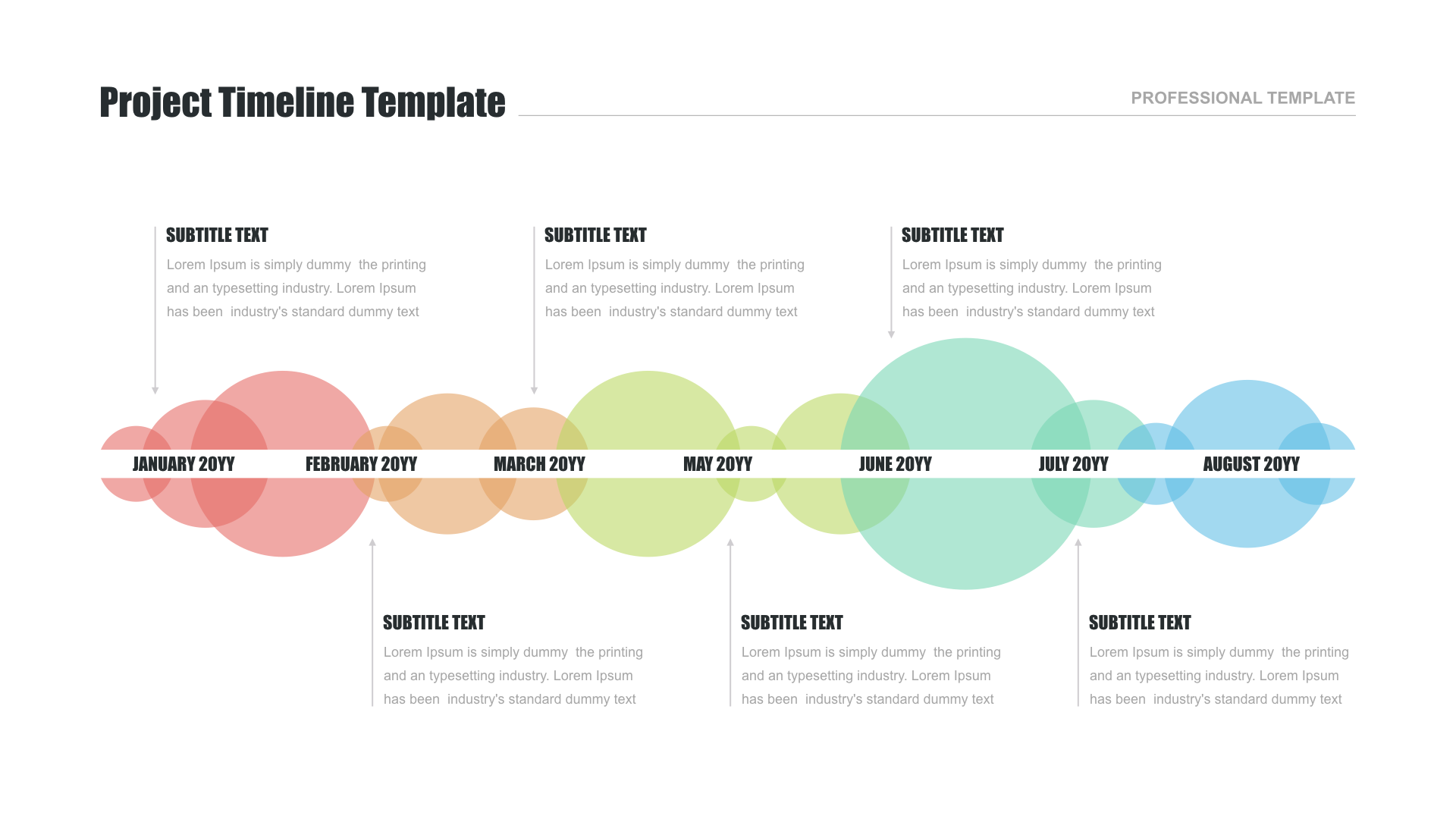 Keynote design for Timeline