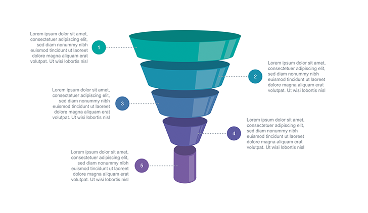 Funnel diagram free Keynote template 2