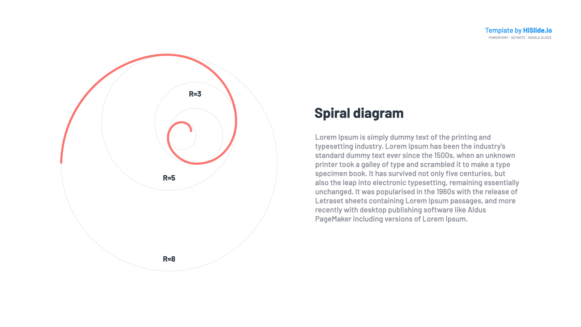 Shape Spiral Keynote Template