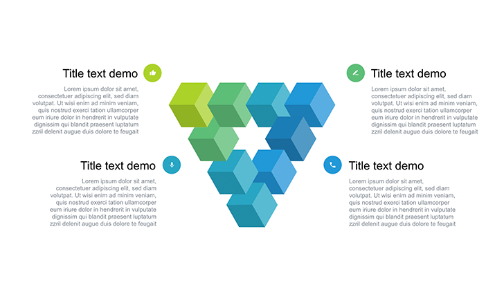 Triangle free Keynote template 3D