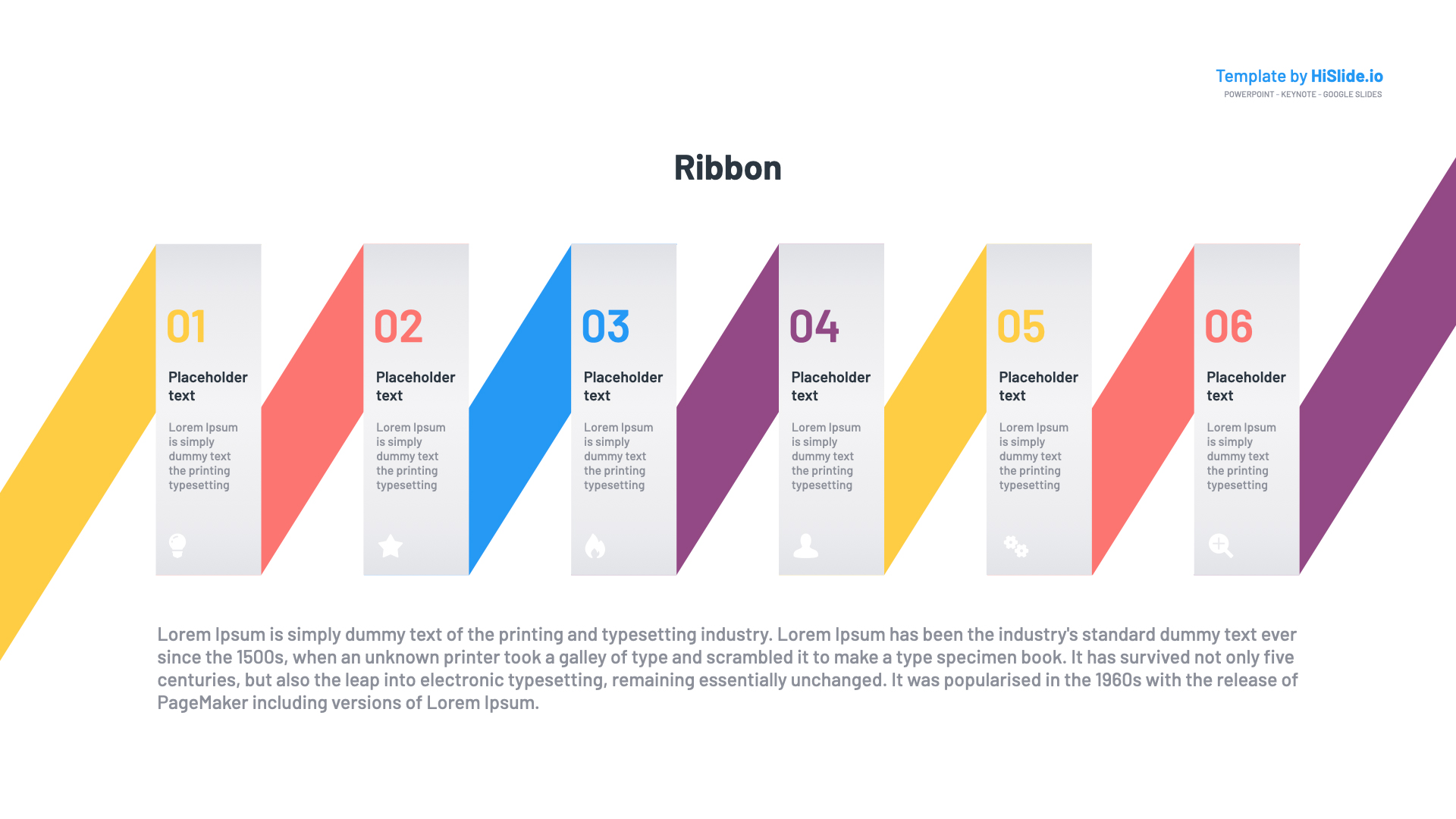 Ribbon Keynote template