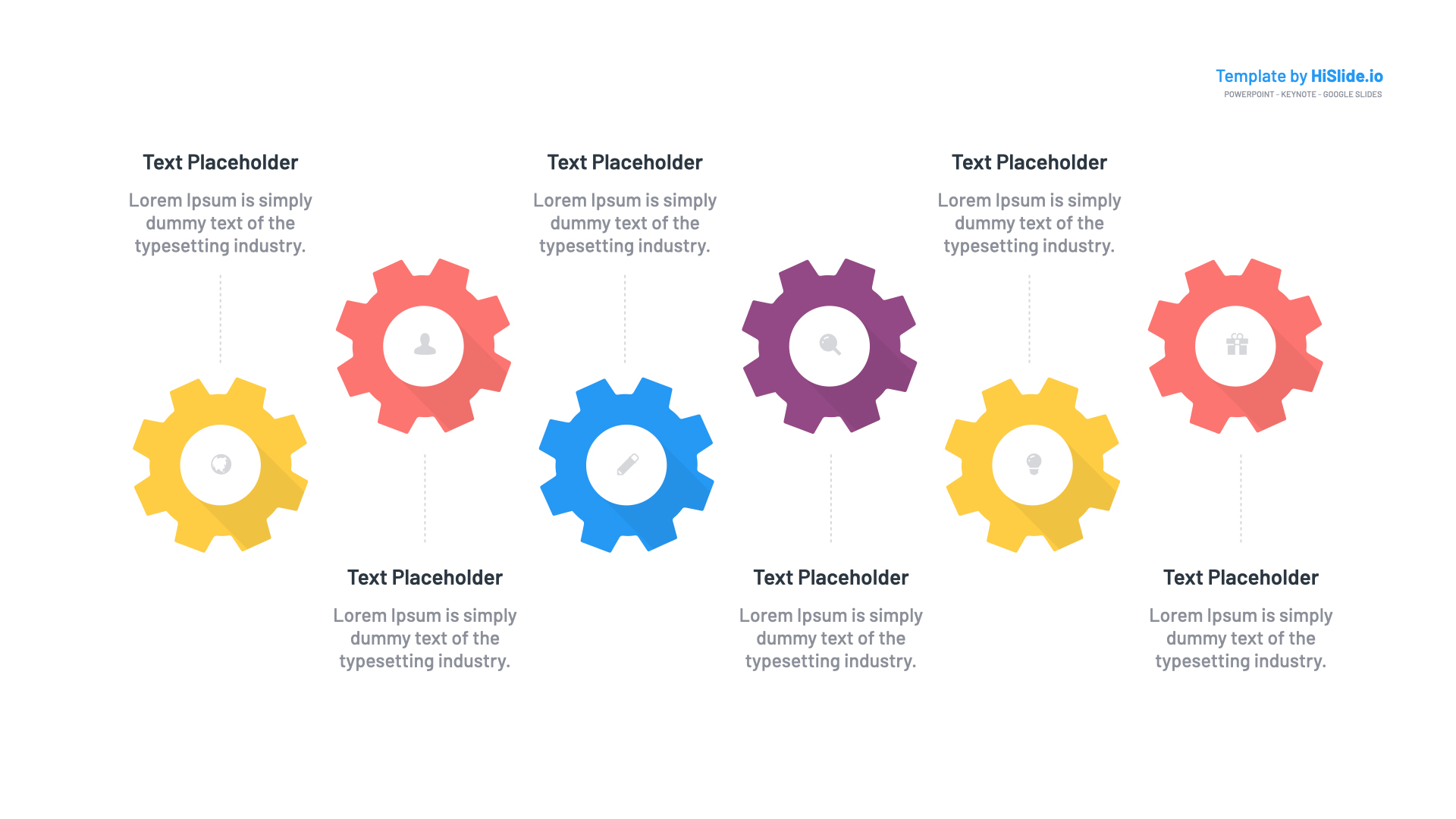 Free Template Gears for Keynote