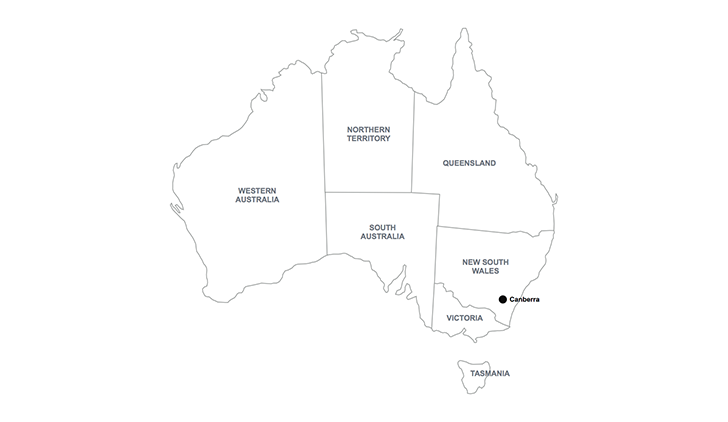 Australia map for Keynote