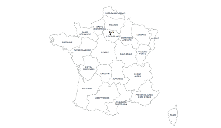map of France for Keynote
