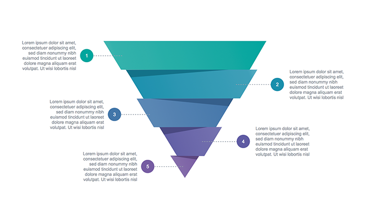 Funnel template for Keynote